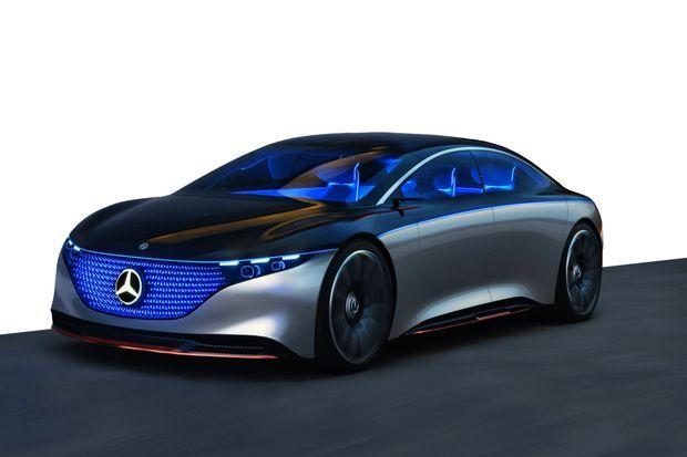 Le concept Vision EQS, présenté au Salon de Francfort en 2019, à l'origine du nouveau modèle EQS.