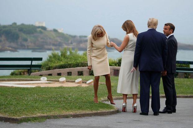 Le couple Macron accueille le couple Trump à Biarritz, samedi soir.