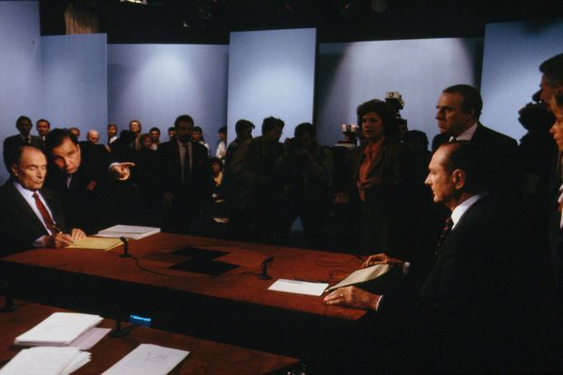 Le débat télévisé Chirac-Mitterrand du 28 avril 1988.
