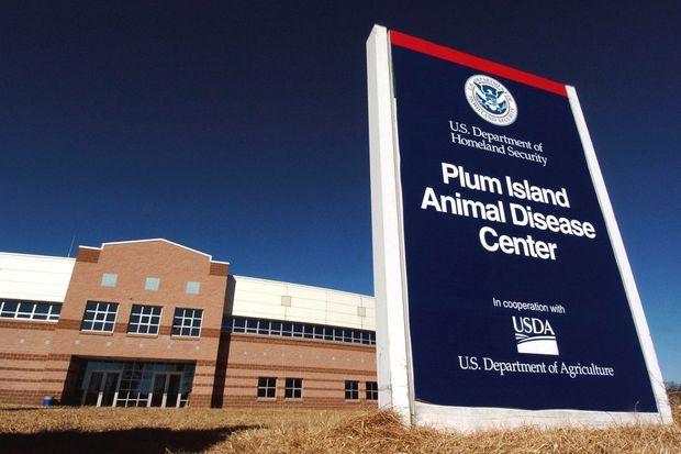 Le laboratoire de Plum Island aujourd'hui utilisé par le ministère de l'Agriculture