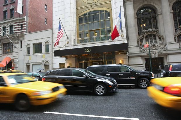 Le lieu de l'« accident », au Sofitel de New York, sur la 44e Rue, dans le centre de Manhattan.