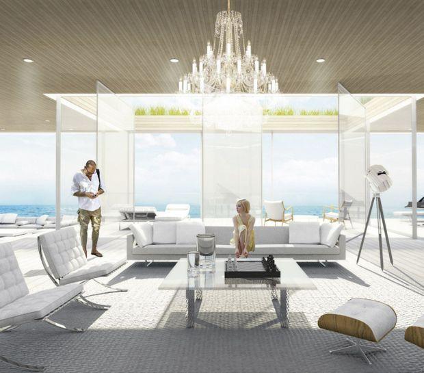 """Le living-room du """"Glass"""""""