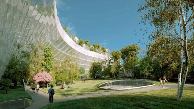 Le parc au sein du complexe.