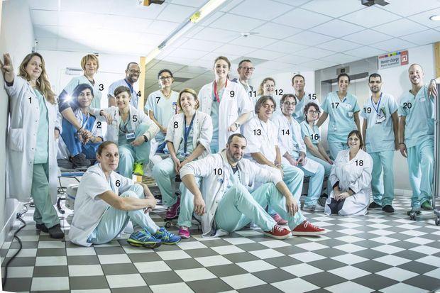 Le personnel soignant de l'hôpital Saint-Antoine AP-HP, de garde la nuit du 13 novembre