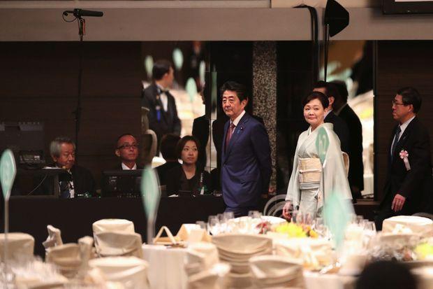 Le Premier ministre japonais Shinzo Abe et son épouse, Akie.