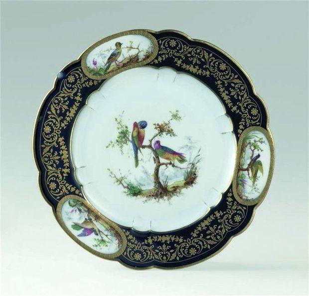 Le service aux Oiseaux est un des plus anciens fabriqués par la Manufacture pour l'Elysée.