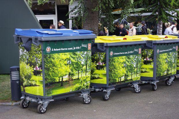 Le tri des déchets est obligatoire à Roland Garros