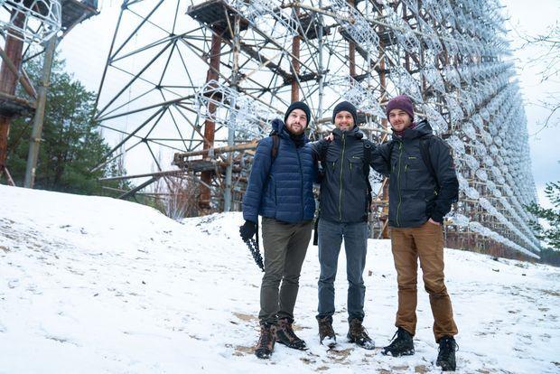 Le trio de YouTubeurs aventuriers MamyTwink