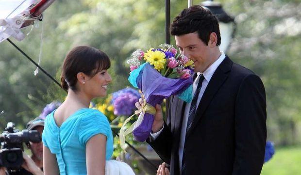 Lea Michele, et Cory Monteith-