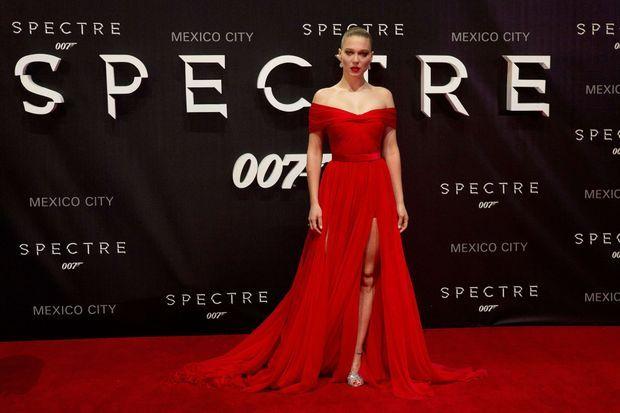 """Léa Seydoux en Miu Miu à la première de """"Spectre"""" à Mexico."""