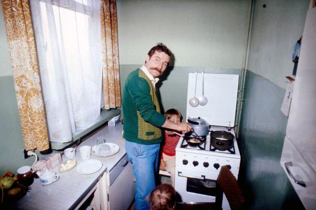 Lech Walesa chez lui, en août 1980.