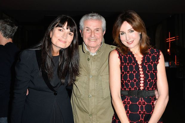 Claude Lelouch avec sa compagne Valérie Perrin et Elsa Zylberstein.