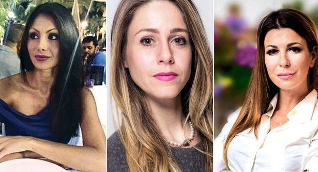 Les Amazones candidates de Berlusconi. Sur la liste de Forza Italia, de g. à d. : 1. Annaelsa Tartaglione, 28 ans, ex-Miss. Ylenia Citino, 32 ans, ex-participante à un reality-show. Matilde Siracusano, 33 ans, ex-Miss.