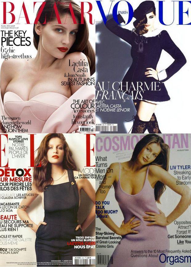 Les couvertures de Laetitia Casta pour les magazines les plus renommés