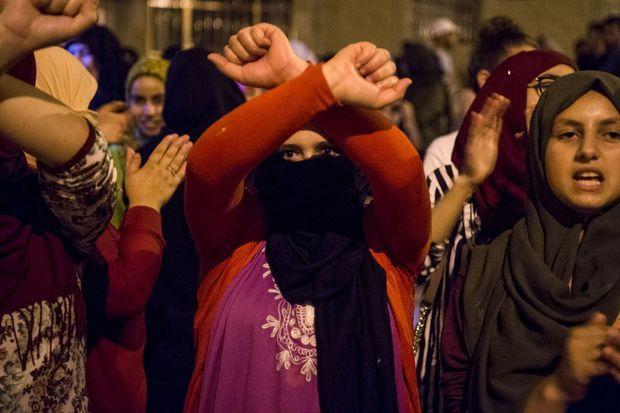 Habitantes d'El Hoceima à la manifestation du 8 juin 2017.