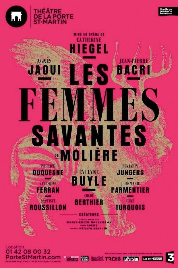 """""""Les femmes savantes"""", à partir du 10 septembre à Paris (Théâtre de la Porte Saint-Martin)"""
