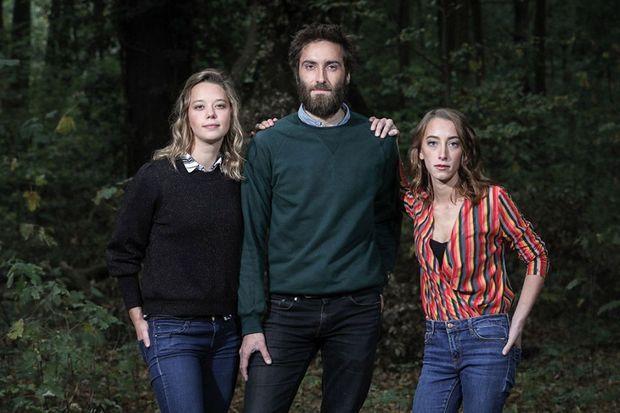 Les jeunes visages de la série: Sophie Breyer, Adrien Drumel et Sophie Maréchal.