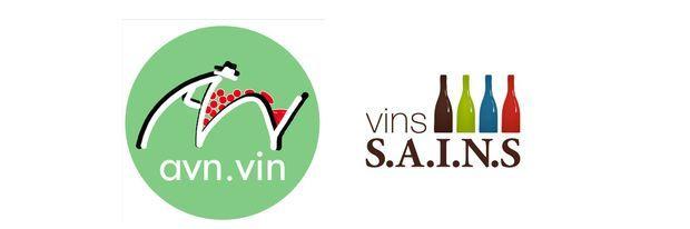 Les logos de l'AVN et des vins S.A.I.N.S.