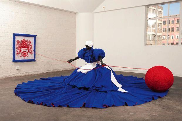 Les malheurs de Sophie « Wish You Were Here » de Mary Sibande (2010).