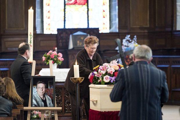 Les obsèques de Guillaume Molinet, le 23 janvier.