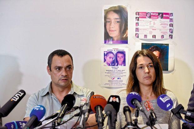 Les parents de Maëlys en septembre, un mois après la disparition de leur fille.
