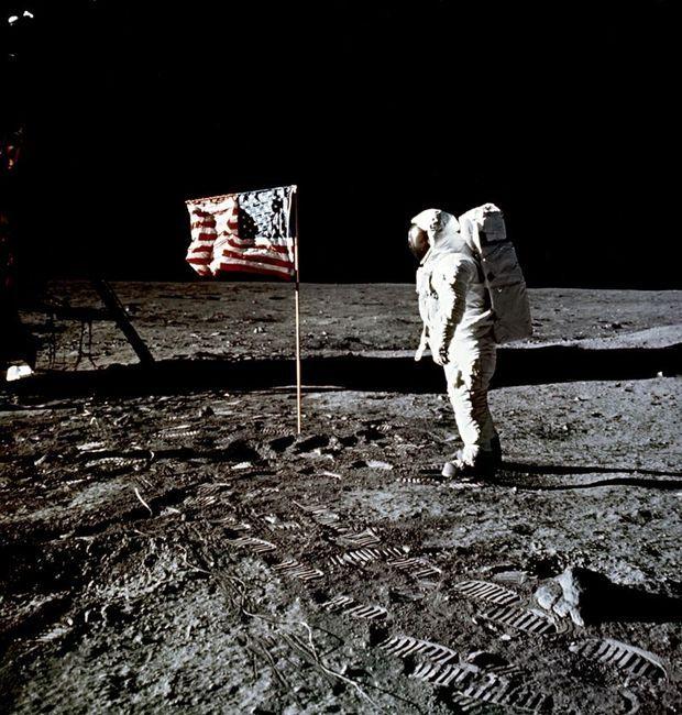 Les premiers pas sur la Lune, en 1969.