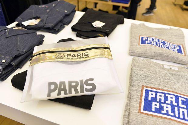 Les produits du PSG sont vendus au Bon Marché