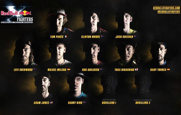 Les participants aux Red Bull X-Fighters