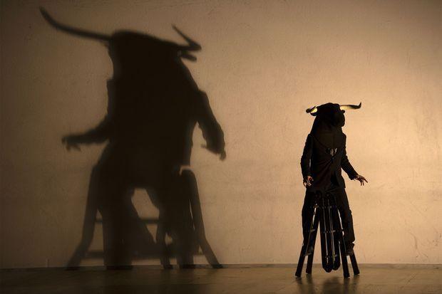 Les répétitions du spectacle de Dimitris Papaioannou.