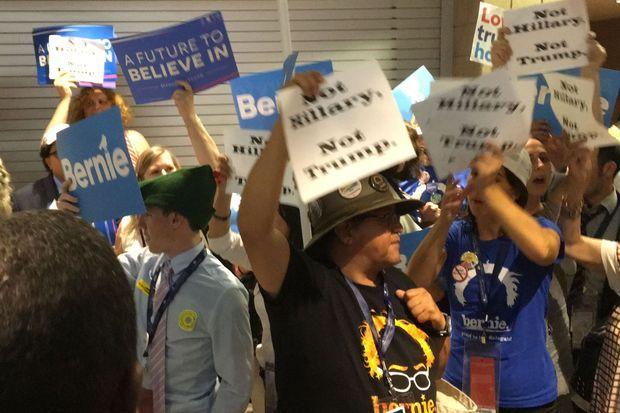 Les supporters de Bernie Sanders étaient nombreux