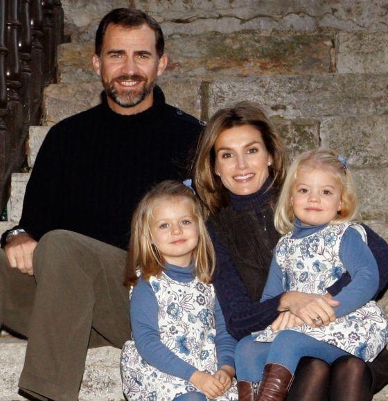 letizia avec ses filles sofia et leonor-