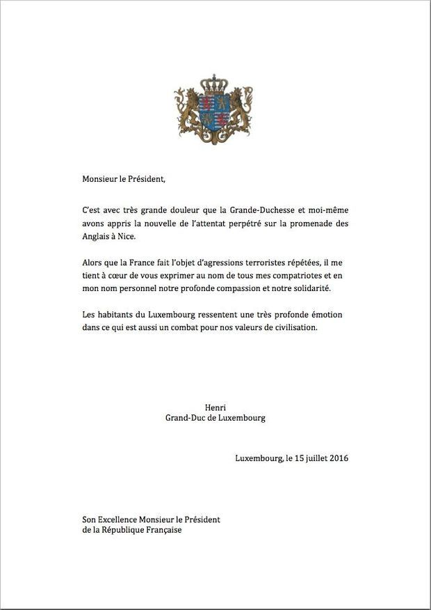 lettre luxembourg