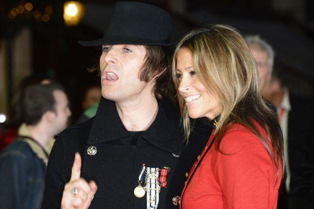 Liam Gallagher et son épouse Nicole Appleton, en octobre 2012.