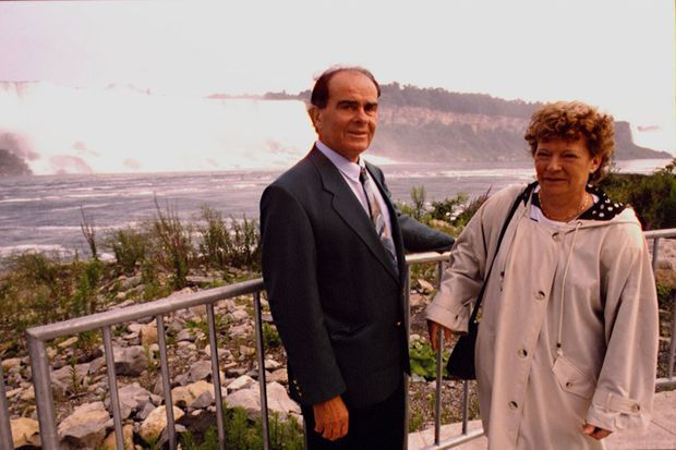 Liliane et Georges Marchais lors d'un voyage en Amérique, en 1992.
