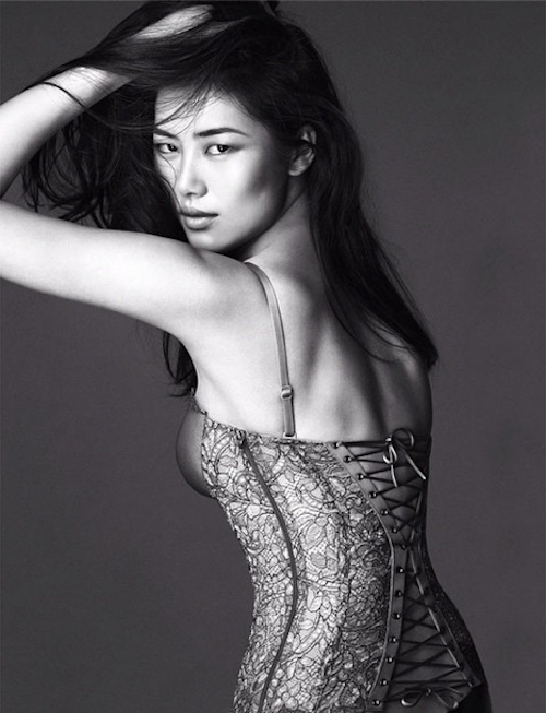 Liu Wen est égérie de la marque de lingerie La Perla