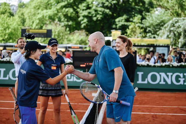 Des entraîneurs d'exception pour des graines de champions lors du Longines Future Tennis Aces.
