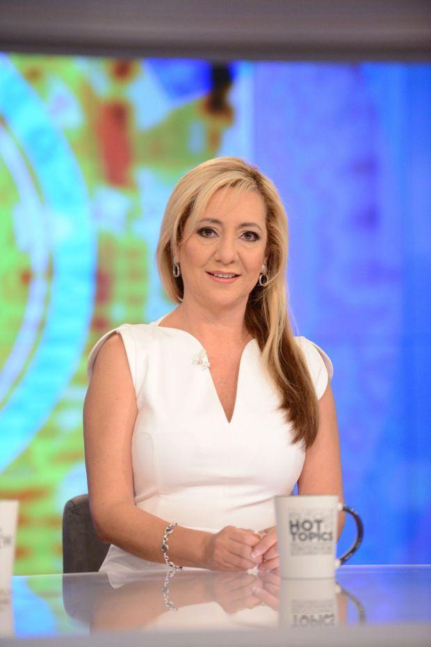 """Lorena Gallo, sur le plateau de l'émission """"The View""""sur ABC, en février 2019."""