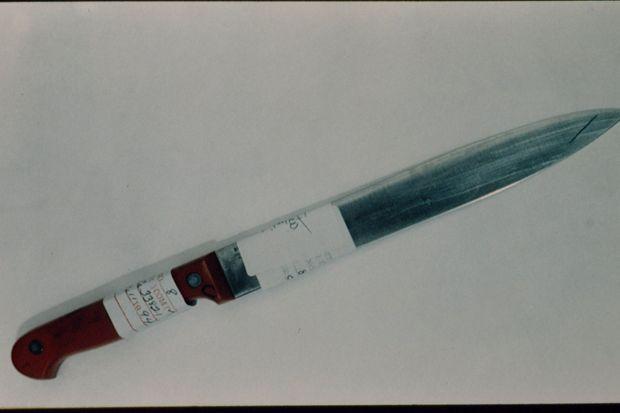 Le couteau utilisé par Lorena Bobbitt pour couper le pénis de son mari.