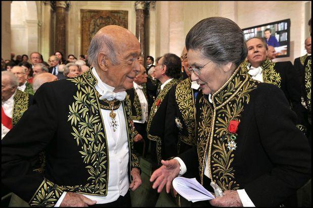 Lors de la cérémonie de réception de Simone Veil à l'Académie française en 2008.