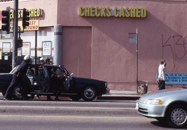 Arrestation à South Central, 29 avril 1992.