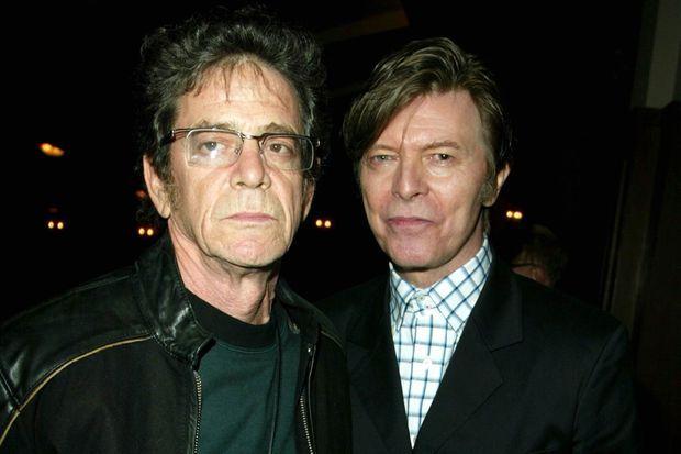 Lou Reed et David Bowie, en 2005, à New York.