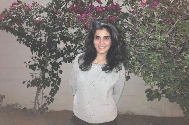 Loujain Al-Hathloul peu après sa sortie de prison.