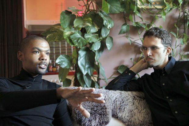 Ludovic-Mohamed et son mari Quiyaam, photographiés en novembre 2012.