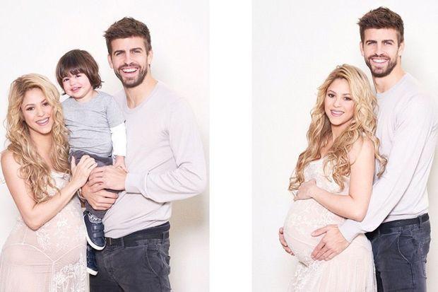 Shakira, Gerard Piqué et leur petit Milan prennent la pose pour la bonne cause