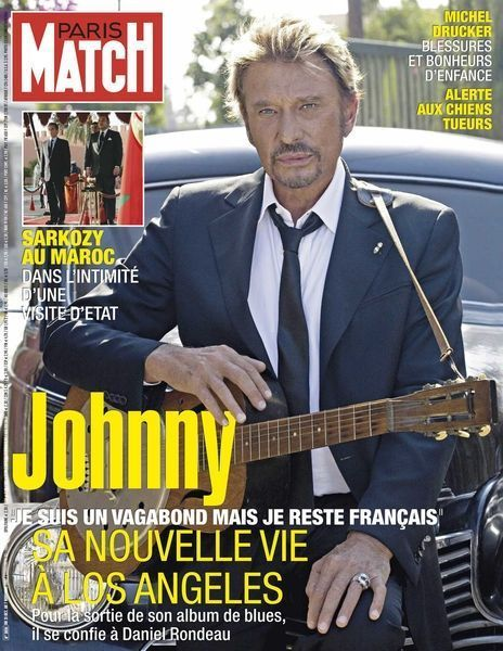 Johnny en couverture de Paris Match