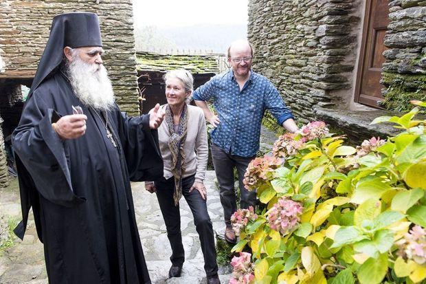 Avec la vigneronne Dominique Hauvette et le boulanger Alex Croquet.