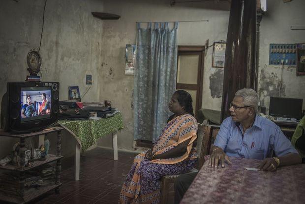 Joseph Decostaire et sa femme tamoule ont 73 ans.
