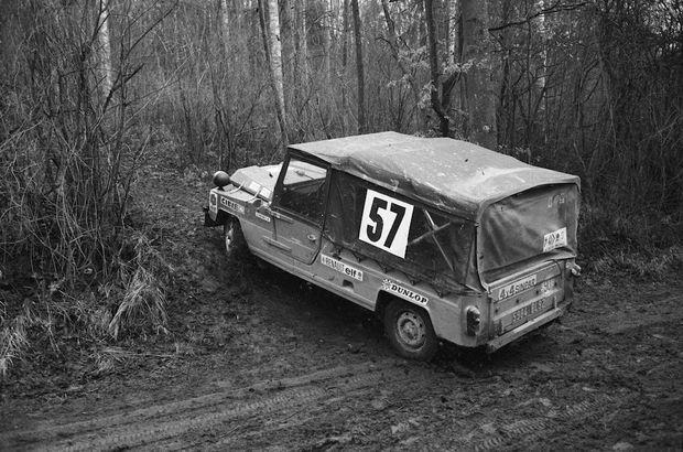 La Méhari originelle de 1968 lors d'un rallye en 1972.