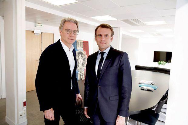 Avec Olivier Royant, directeur de la rédaction de Paris Match, le 29 avril.