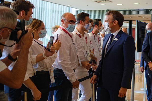 Emmanuel Macron au Club France.